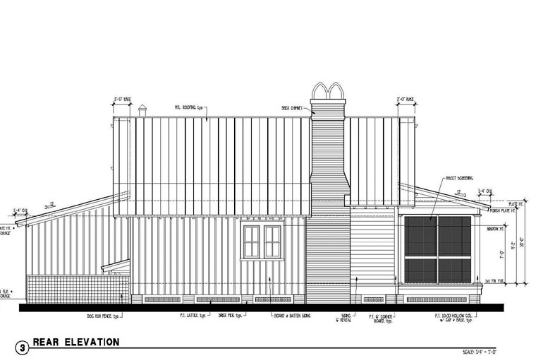 Country Historic House Plan 73909 Rear Elevation