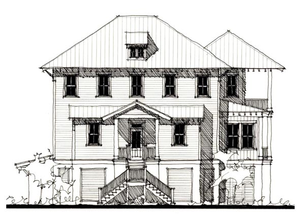 Country Historic House Plan 73913 Elevation