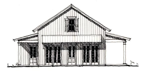 Country Historic House Plan 73919 Elevation