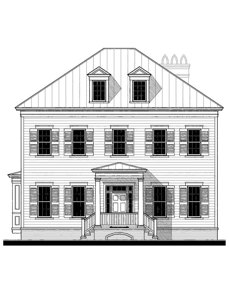 Colonial, Southern Plan with 4387 Sq. Ft., 6 Bedrooms, 5 Bathrooms Picture 2
