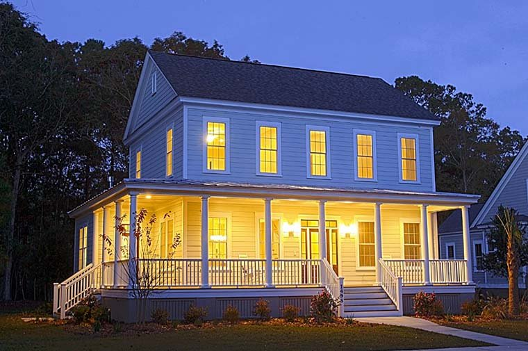 Colonial Country Farmhouse Southern House Plan 73943 Elevation