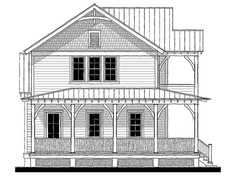 Country, Farmhouse, Southern, Traditional Plan with 2225 Sq. Ft., 4 Bedrooms, 4 Bathrooms Elevation