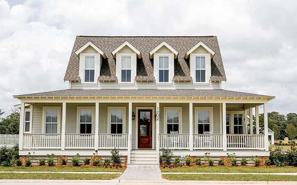 Country, Farmhouse, Southern House Plan 73946 with 3 Beds, 4 Baths Elevation