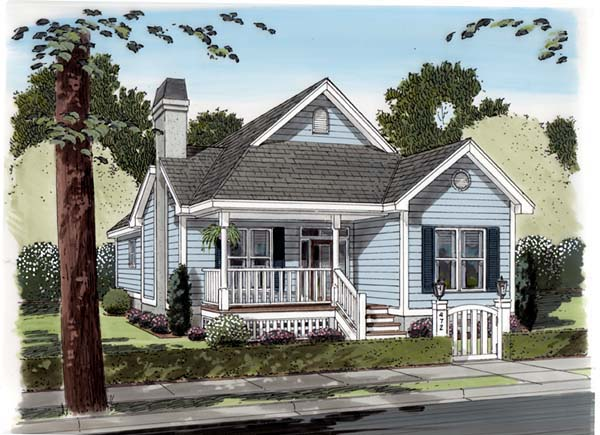 Traditional House Plan 74002 Elevation