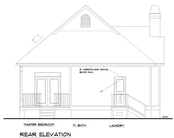 Traditional House Plan 74002 Rear Elevation