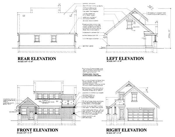 Craftsman Garage Plan 74015 Rear Elevation