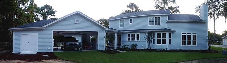 Craftsman Farmhouse House Plan 74020 Rear Elevation
