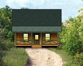 Plan Number 74104 - 917 Square Feet