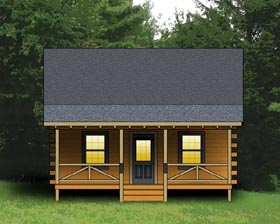 Plan Number 74105 - 744 Square Feet
