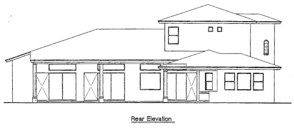 Mediterranean Southwest House Plan 74219 Rear Elevation