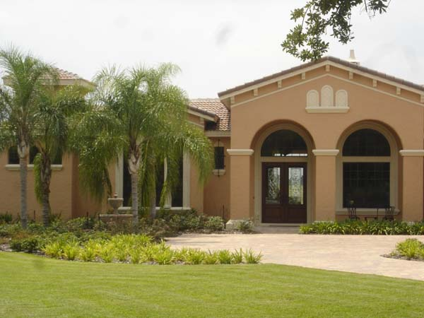 Mediterranean, Southwest House Plan 74238 with 5 Beds, 5 Baths, 4 Car Garage Picture 2