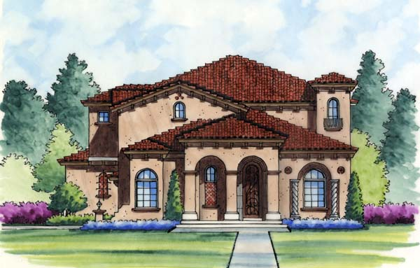 Mediterranean Southwest House Plan 74247 Elevation