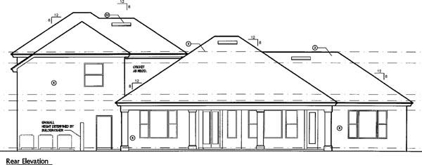 Mediterranean House Plan 74266 Rear Elevation