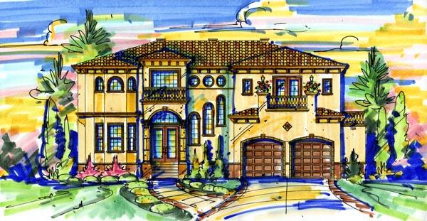 Mediterranean House Plan 74278 Elevation