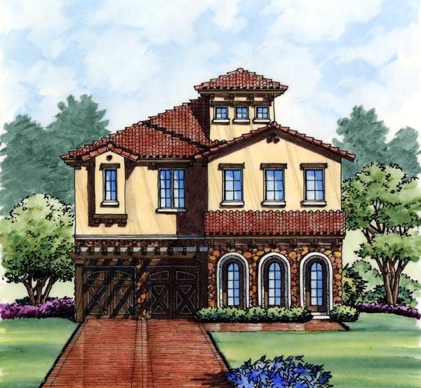 House Plan 74280 Elevation