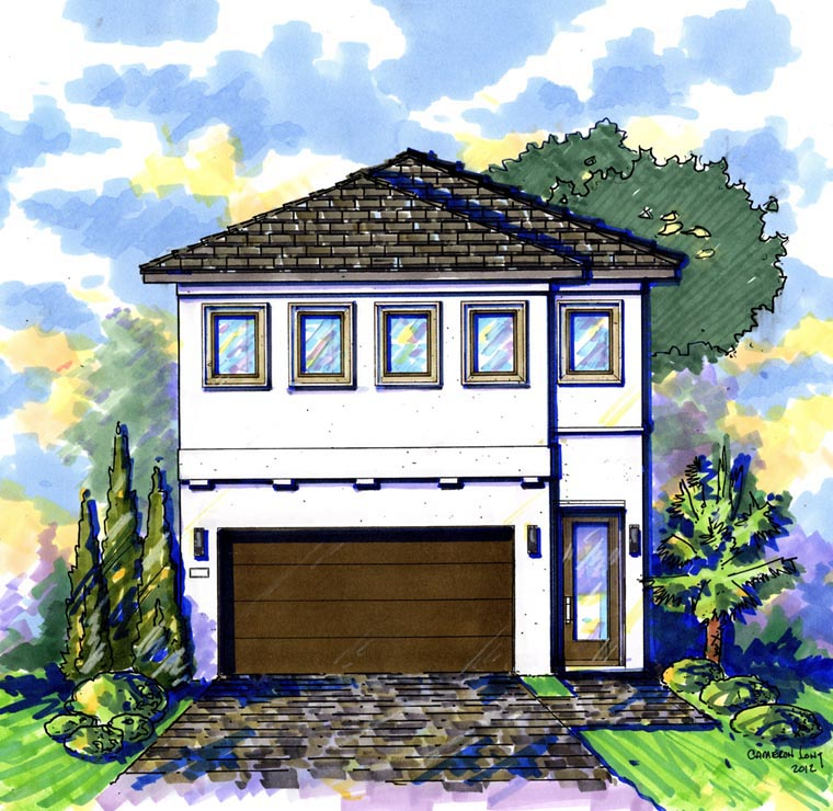 Contemporary House Plan 74287 Elevation