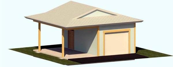 2 Car Garage Plan 74301 Elevation
