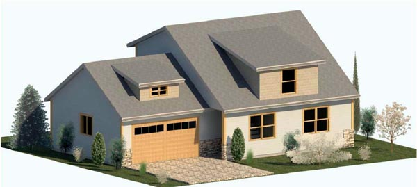Cape Cod Country Traditional House Plan 74314 Elevation