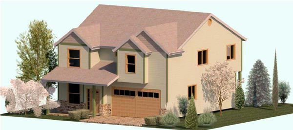 Country Farmhouse Traditional House Plan 74335 Elevation