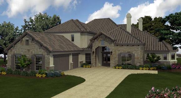 European, Mediterranean House Plan 74510 with 5 Beds, 6 Baths, 3 Car Garage Elevation
