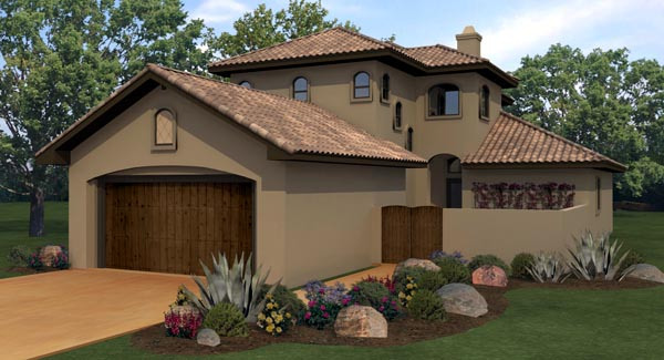Mediterranean House Plan 74513 Elevation