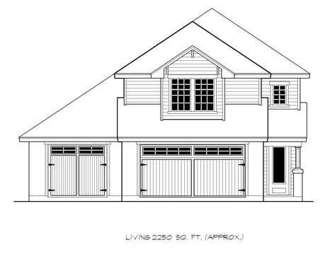 Craftsman House Plan 74526 with 4 Beds, 4 Baths, 3 Car Garage Elevation