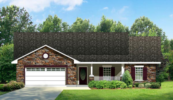 Country Farmhouse Ranch House Plan 74531 Elevation