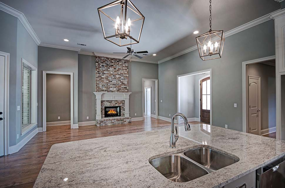Country, French Country House Plan 74645 with 4 Beds, 3 Baths, 3 Car Garage Picture 9