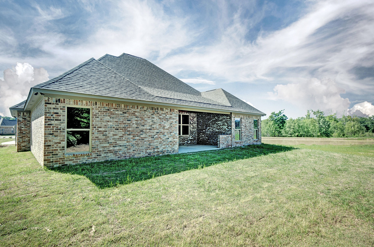 Country, French Country House Plan 74645 with 4 Beds, 3 Baths, 3 Car Garage Rear Elevation