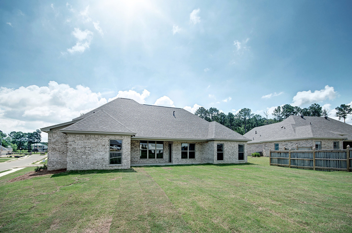 European, French Country House Plan 74648 with 4 Beds, 3 Baths, 2 Car Garage Rear Elevation