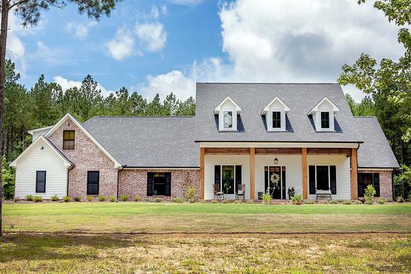 Country, Ranch, Traditional House Plan 74650 with 4 Beds, 5 Baths, 3 Car Garage Elevation
