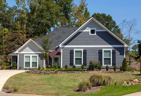 Cottage, Traditional House Plan 74652 with 3 Beds, 3 Baths, 2 Car Garage Elevation