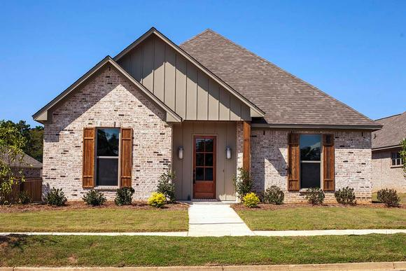 Craftsman, Narrow Lot, Traditional House Plan 74654 with 4 Beds, 3 Baths, 2 Car Garage Elevation