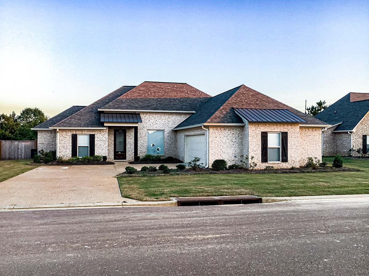 French Country, Traditional House Plan 74658 with 3 Beds, 3 Baths, 2 Car Garage Elevation