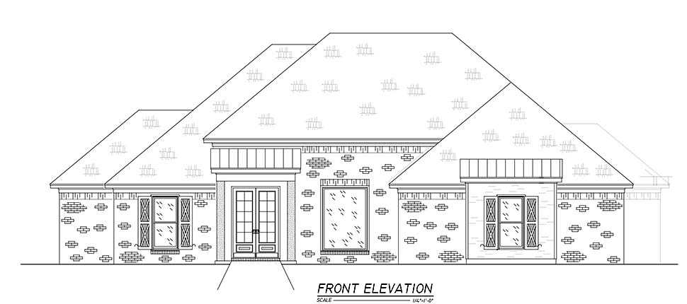 French Country, Traditional House Plan 74658 with 3 Beds, 3 Baths, 2 Car Garage Picture 3