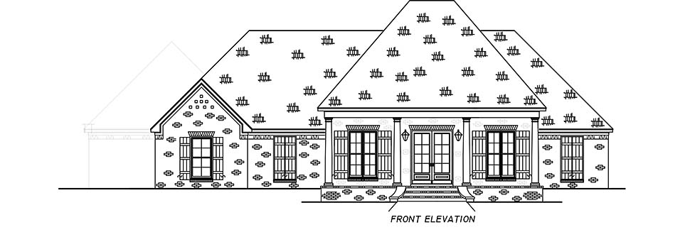 French Country, Traditional House Plan 74662 with 3 Beds, 3 Baths, 3 Car Garage Picture 3