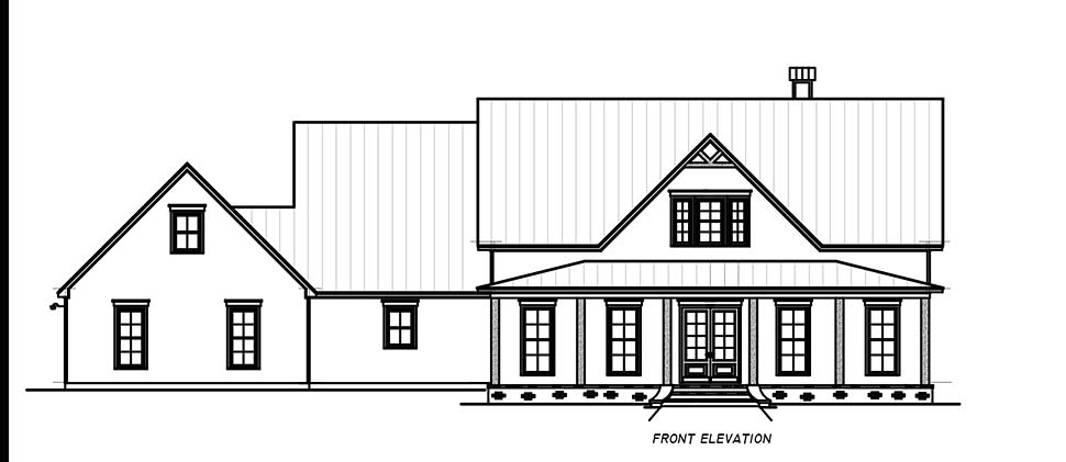Country, Farmhouse, Traditional House Plan 74668 with 3 Beds, 4 Baths, 2 Car Garage Picture 3