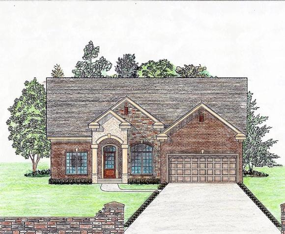 Cottage, Country, Craftsman, Ranch, Southern House Plan 74724 with 3 Beds, 2 Baths, 2 Car Garage Elevation
