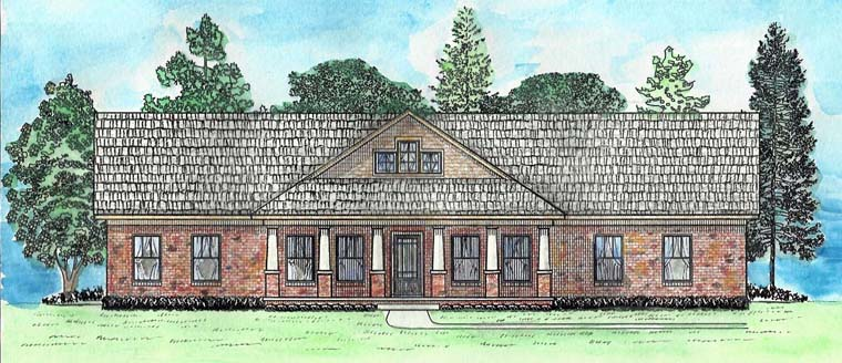 Bungalow, Country, Craftsman, Ranch, Traditional House Plan 74725 with 3 Beds, 2 Baths, 2 Car Garage Elevation