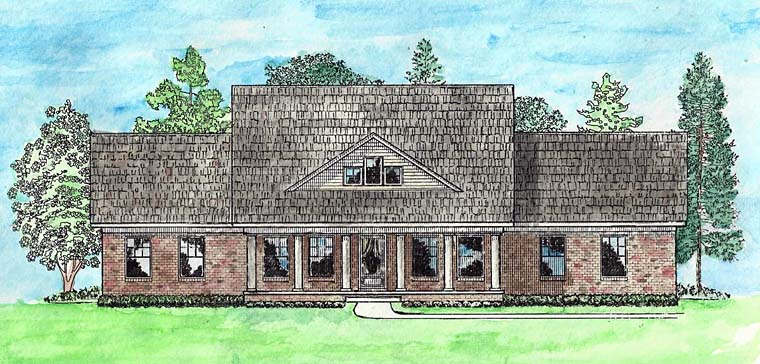 Country, Craftsman, Ranch, Traditional House Plan 74727 with 3 Beds, 2 Baths, 2 Car Garage Elevation