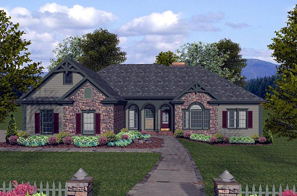 House Plan 74805 At Familyhomeplans Com