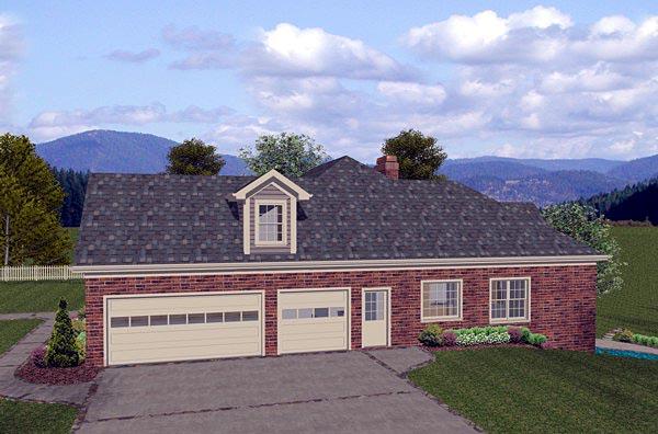 Craftsman, European House Plan 74807 with 4 Beds, 3 Baths, 3 Car Garage Picture 1