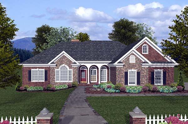 Ranch House Plan 74810