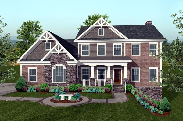 House plan 74816 at for Family homes com