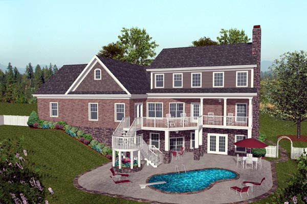 Craftsman House Plan 74817 Rear Elevation