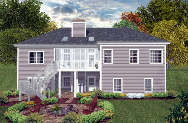 Craftsman Traditional House Plan 74818 Rear Elevation