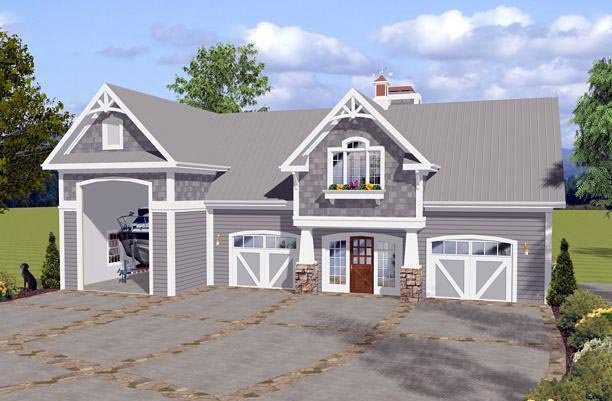 Craftsman Garage Plan 74841 Elevation