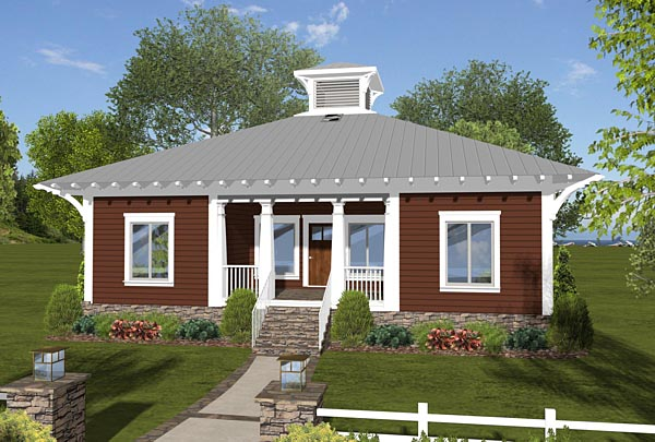Cottage Country Craftsman Modern House Plan 74844 Elevation