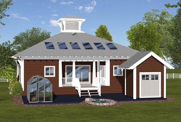 Cottage Country Craftsman Modern House Plan 74844 Rear Elevation