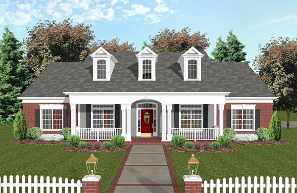 Country Traditional House Plan 74851 Elevation